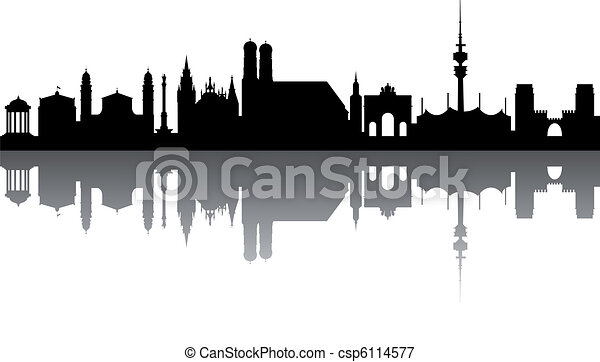 Munich Skyline abstract - csp6114577
