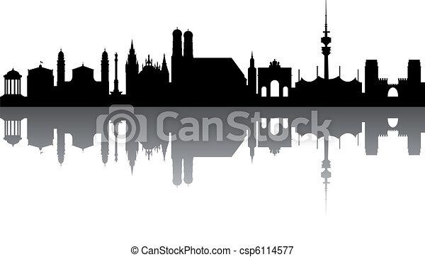 Munich Skyline abstract - csp6114577