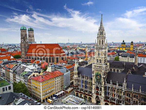 Munich Skyline - csp16146881