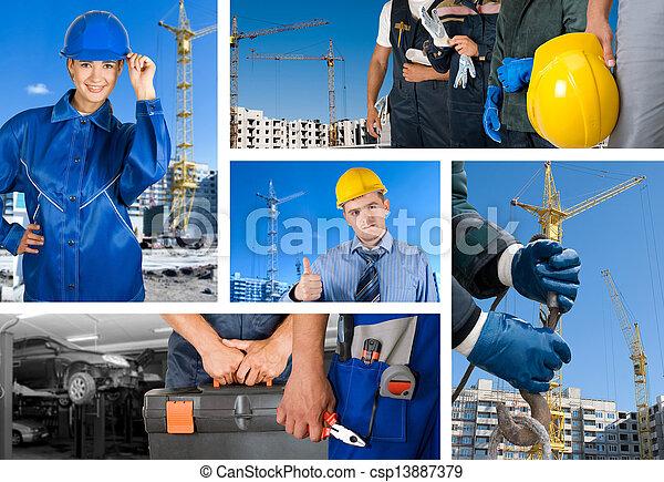 munkás, állhatatos - csp13887379