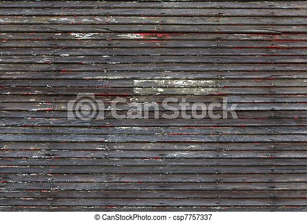 mur, bois, porté - csp7757337