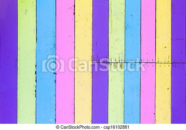 mur, bois, vieux, coloré - csp16102881