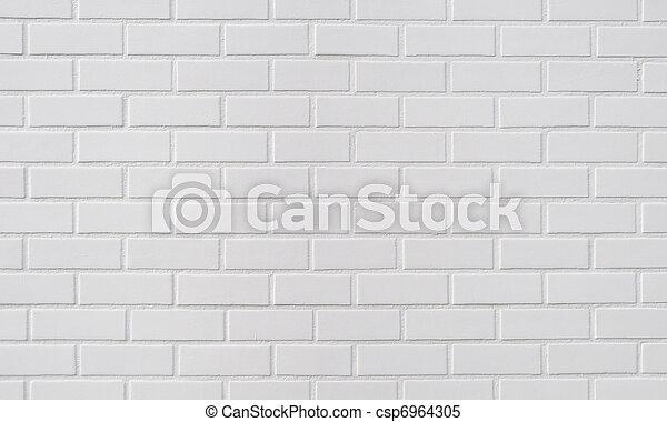 mur, brique blanche, fond - csp6964305