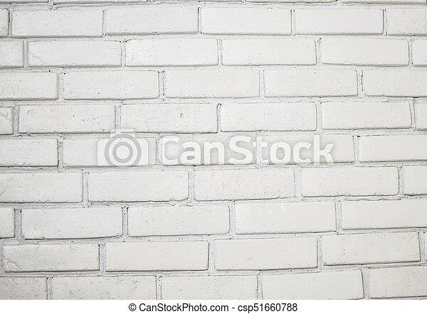 Elegant Mur, Brique Blanche, Fond