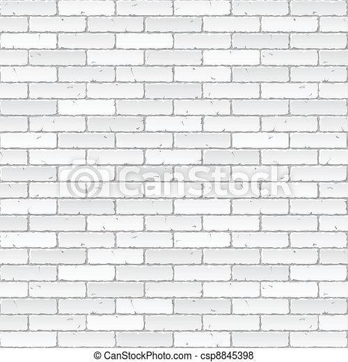 mur, brique blanche - csp8845398