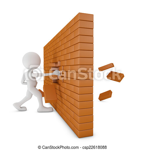 mur, brique - csp22618088