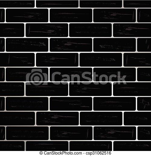 Mur brique vecteur noir mur noir brique vecteur - Mur brique noir ...