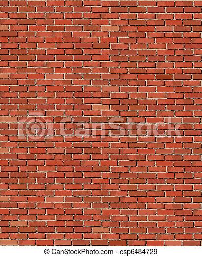 mur, brique, vieux - csp6484729
