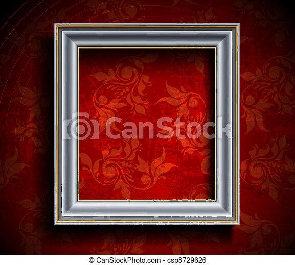 mur, cadre graphique - csp8729626