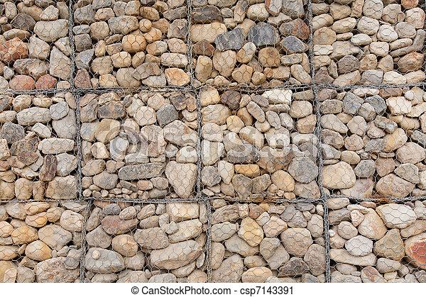 Mur En Cailloux mur, cailloux. cailloux, mur, utilisé, caisse, rempli photographie