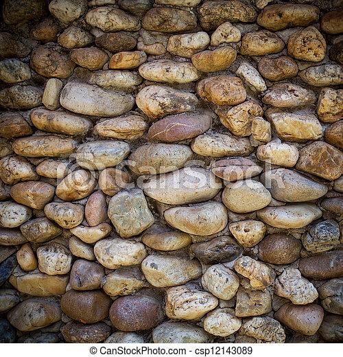 Mur En Cailloux mur, cailloux. cailloux, mur, fait, closeup, fond.