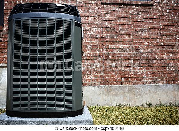 mur, climatiseur, brique, air - csp9480418