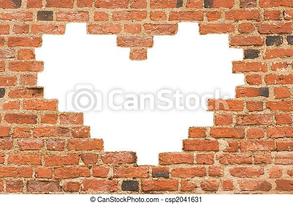 mur coeur trou brique form coeur vieux form mur trou brique. Black Bedroom Furniture Sets. Home Design Ideas