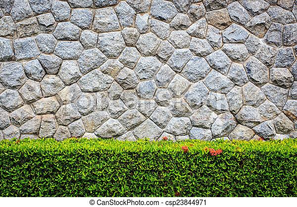 Image de mur, décoratif, jardin pierre csp23844971 - Rechercher ...