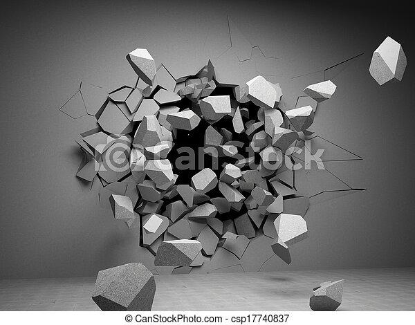 mur, destruction - csp17740837