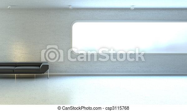mur, fenêtre, copyspace, interrior - csp3115768