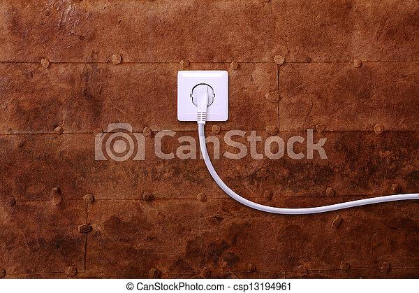 mur fil sortie lectrique fer forme coeur fil sortie image de stock recherchez photos. Black Bedroom Furniture Sets. Home Design Ideas