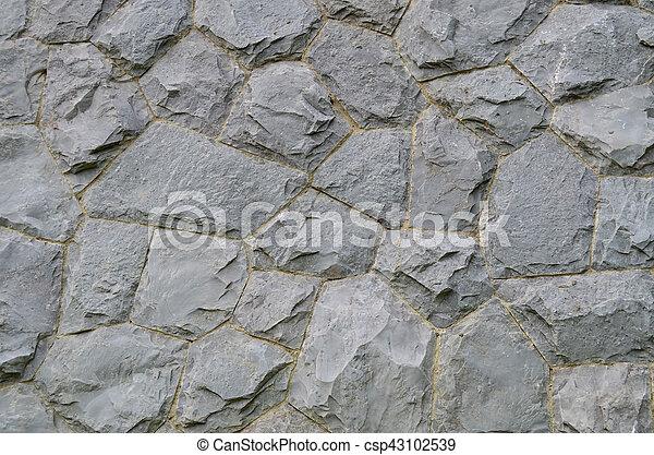 Mur, granit, pierre, fond, texture. Mur pierre, gris,... photos de ...