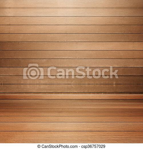 Mur, Intérieur, Bois, Salle, Plancher   Csp36757029