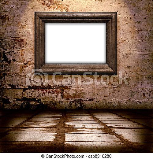 mur int rieur cadre vieux vieux cadre mur int rieur photographie de stock rechercher. Black Bedroom Furniture Sets. Home Design Ideas