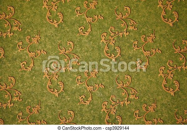 mur, ornament., jaune, élevé, vert, texture, carrelage, résolution, style.,  retro