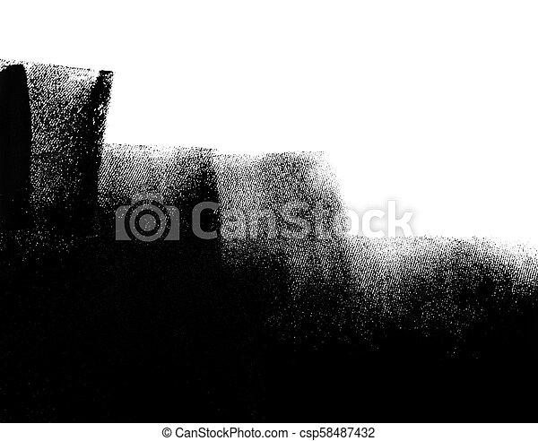 Mur Peint Peinture Noir Blanc Rouleau Partiellement