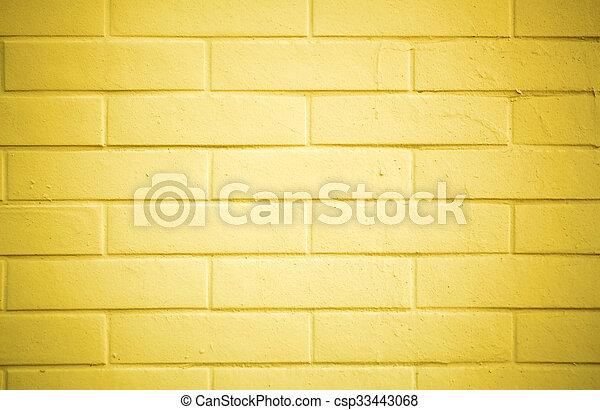 Mur Peinture Peint Brique Jaune