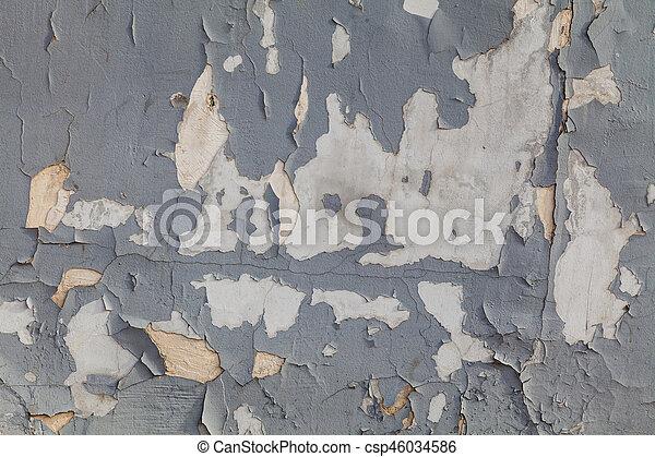 mur, peinture, vieux, gris, textured