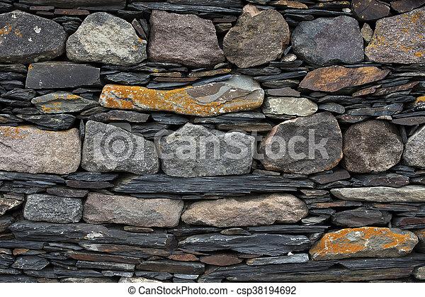 mur, pierre, ancien, texture - csp38194692
