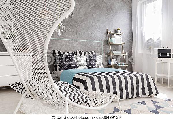 Mur, Plâtre, Moderne, Idée, Chambre À Coucher