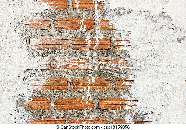 Mur, texture, fond, tache, brique, blanc.