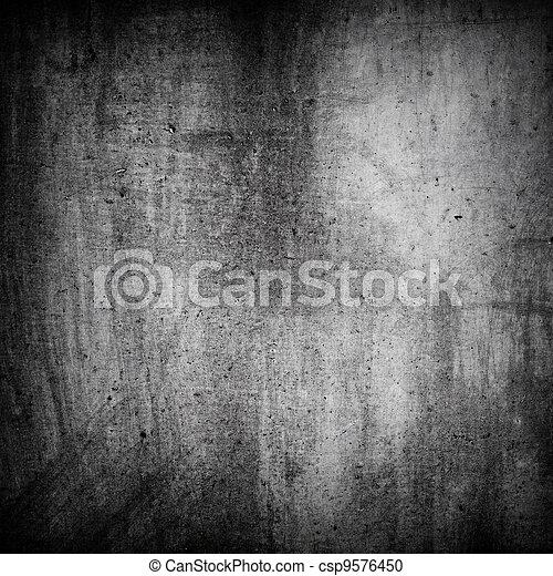mur, texture, grunge, gris, fond - csp9576450