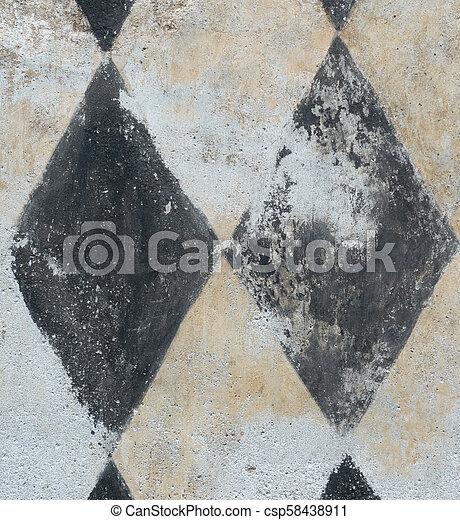Mur Texture Main Peinture Arrière Plan Noir Blanc