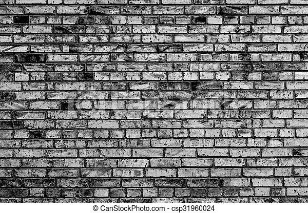 Mur Texture Noir Brique Blanc Contraste Canstock