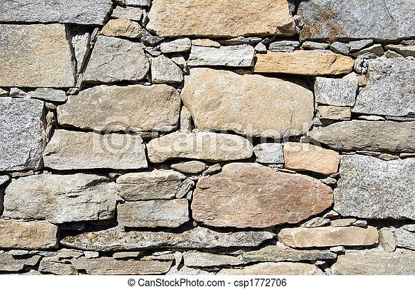 mur, texture pierre - csp1772706