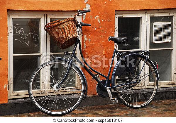 mur, vélo, contre, penchant - csp15813107