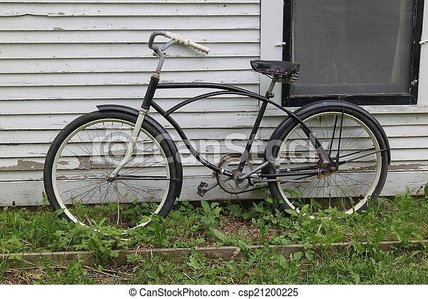 mur, vélo, contre, penchant - csp21200225