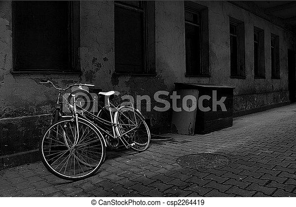 mur, vendange, sur, vélos, vieux - csp2264419