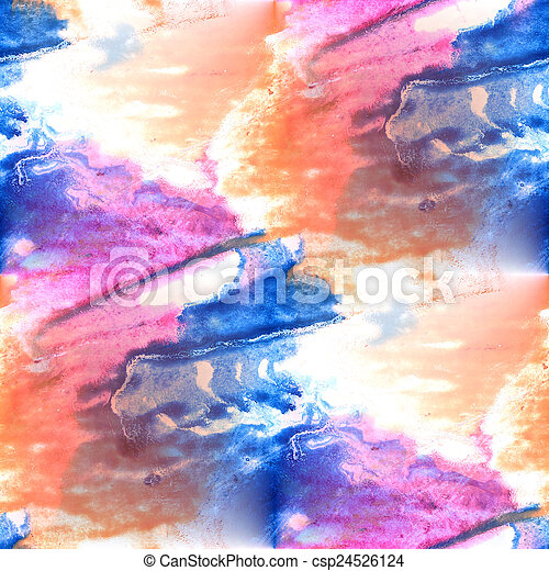 Mural pink, blue, yellow background  seamless pattern - csp24526124