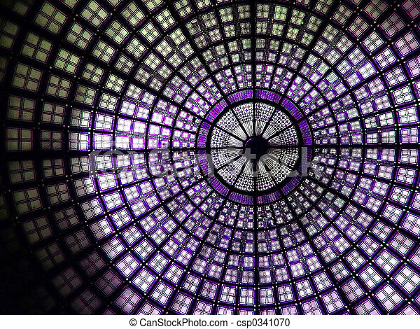 Mural purple - csp0341070