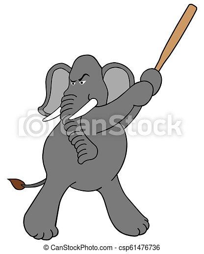 Elefante al bate - csp61476736