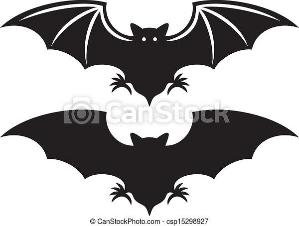 Silueta de murciélago - csp15298927