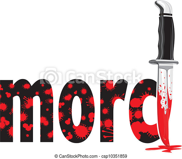 murder in german language a bloody knife and drops of clipart rh canstockphoto com Blood Splatter Clip Art Knife with Blood