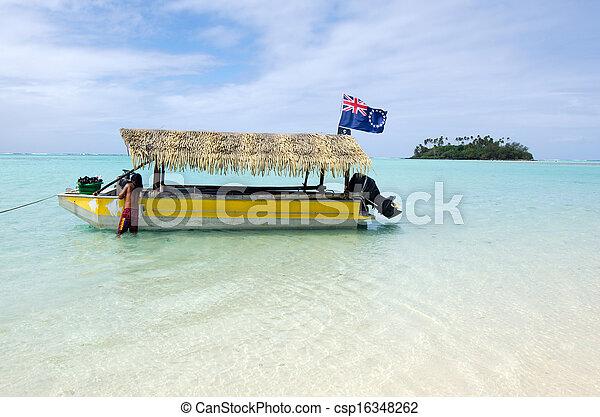 Muri Lagoon in Rarotonga Cook Islands - csp16348262