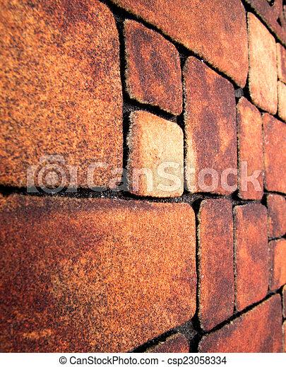 muro pietra, struttura - csp23058334