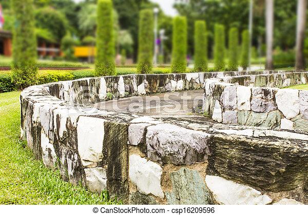 muro sostegno, garden. - csp16209596