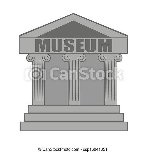 musée, icône - csp16041051
