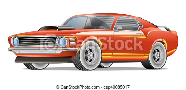 Muscle Car Cartoon Classic Vector Poster T Shirt Print T Shirt
