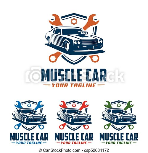 Template Of Muscle Car Logo Retro Logo Style Vintage Logo Perfect