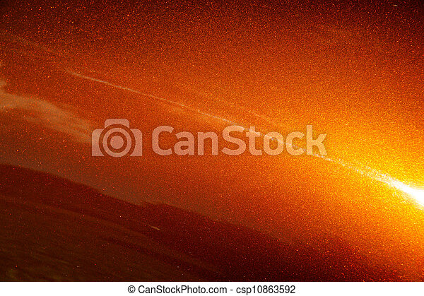 Muscle Car Orange Paint Background